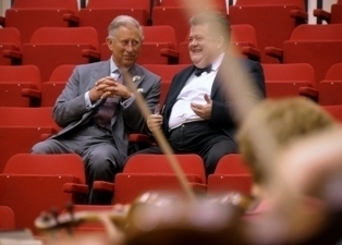 HRH Prince Charles and Professor Dibble