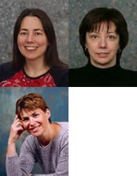 Three Female Professors Dr Chris Done, Dr Ruth Gregory, Dr Anne Taormina