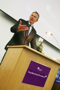 Tony Blair delivers lecture at Durham University