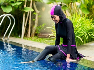 Image of a woman in a burkini