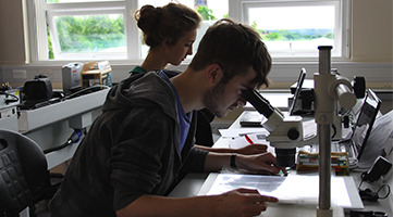 Image of students in a lab