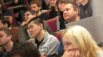 Image of a students in a lecture theatre