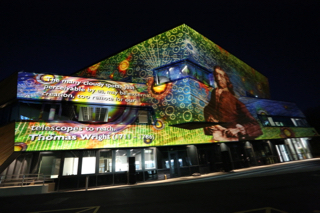Image of the new building projected with the 'Worlds, Systems and Creations' simulations