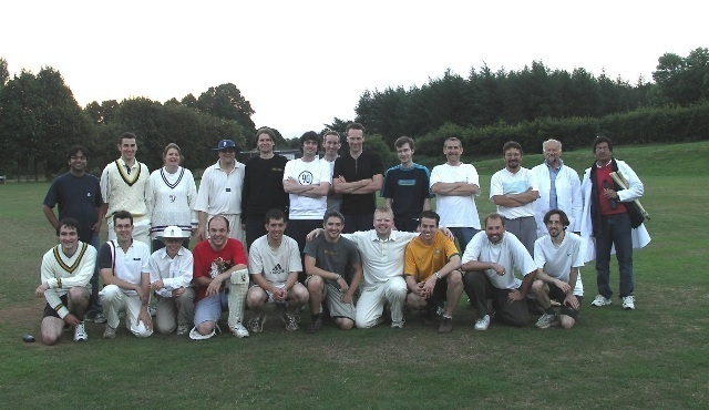 Departmental cricket match: the players