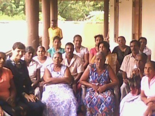 Lena in Mawella with Focus Group