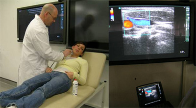 Using ultrasound to examine the blood vessels in the neck
