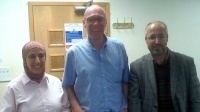 Dr Simon Forrest with Drs Samah and Krishi