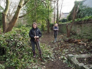 Staff from Durham University Business School help tidy Stockton Road Cemetery, Durham City