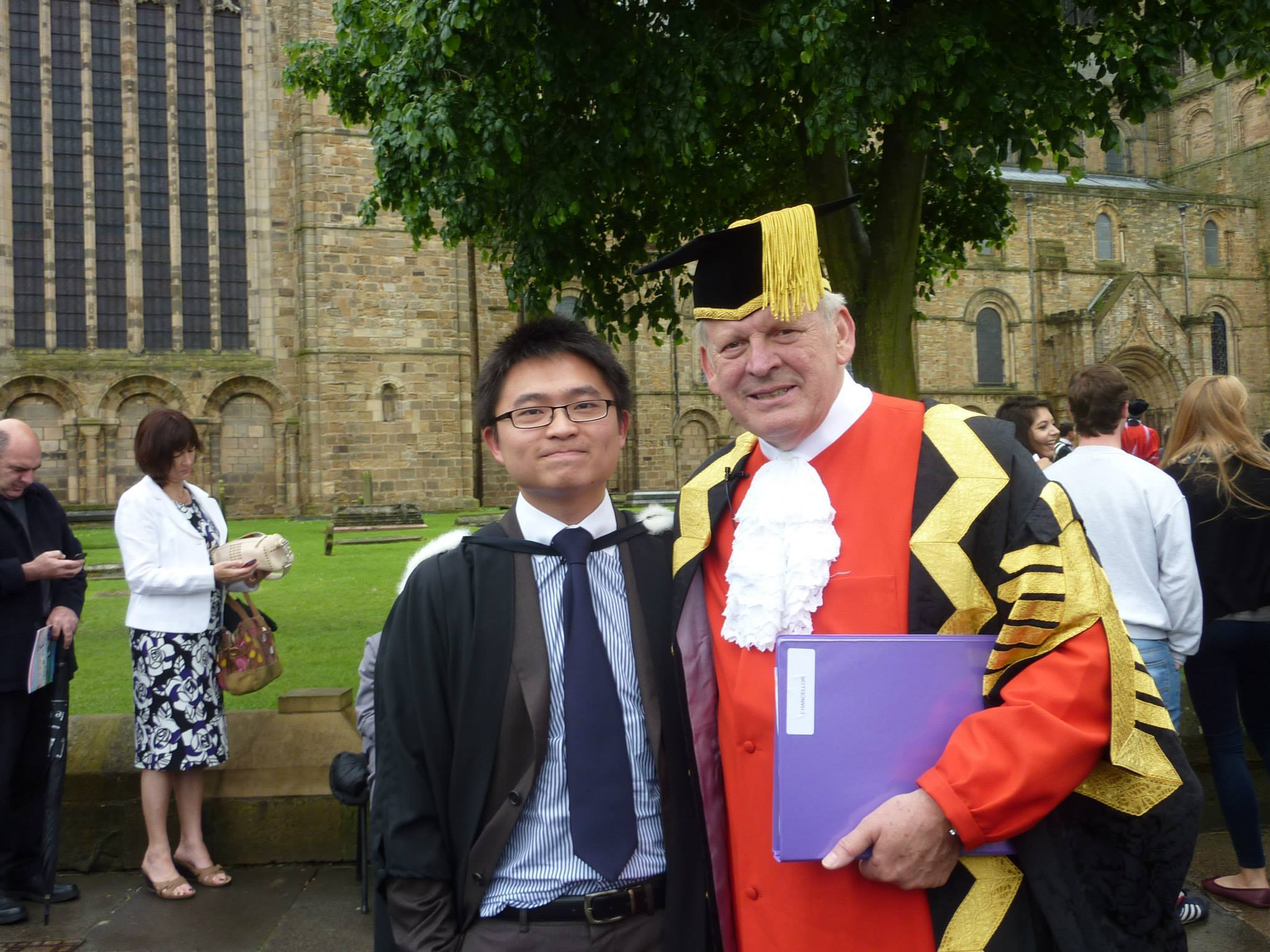 Student with the DUrham University Chancellor