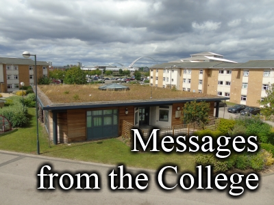 Messages from the College