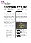 Common Awards Research Bulletin, May 2018