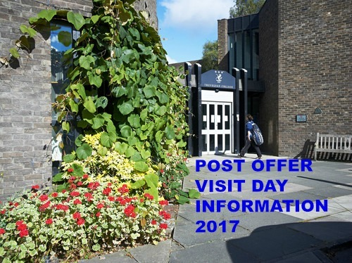 Post Offer Visit Day Information 2017