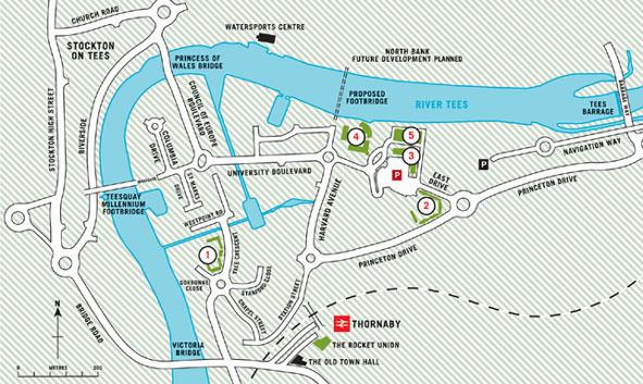 Teesside University Car Park Map